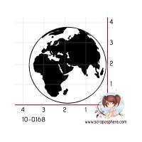 TAMPON MAPPEMONDE GLOBE (grande) par Soph10