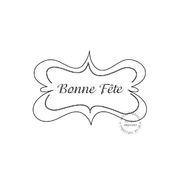 TAMPON ETIQUETTE ACCOLADE BONNE FETE par Lily Fairy