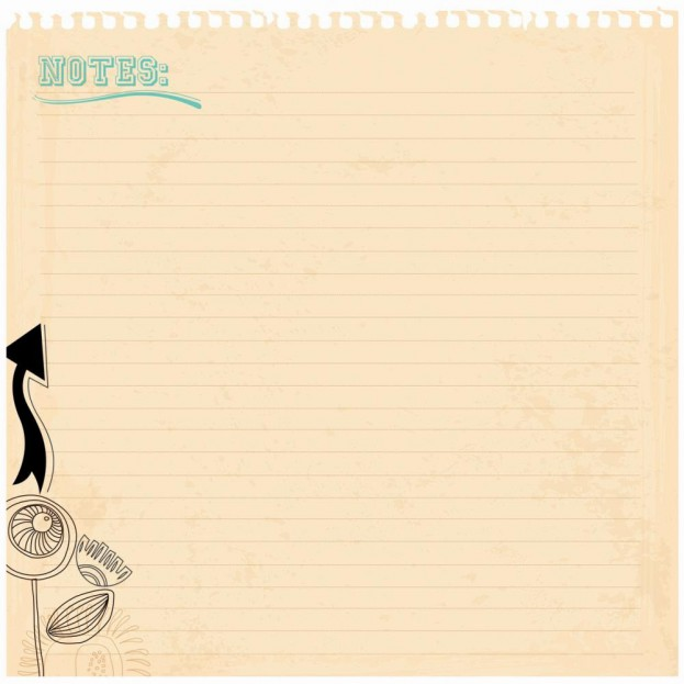 1 FEUILLE CARDSTOCK 30X30 RIGIDE ET PRE DECOUPEE - NOTES