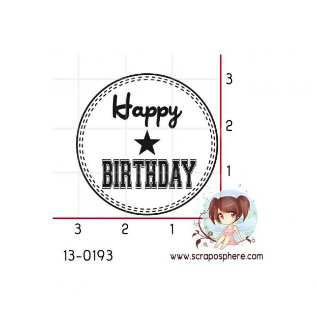 TAMPON CERCLE HAPPY BIRTHDAY par Mariboss85