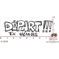 TAMPON DEPART EN VACANCES par Ghis