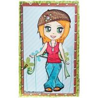 TAMPON FILLE LYLOU AU RUBAN par Lily Fairy