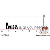 TAMPON LOVE IS ALL YOU NEED (petit) par Binka