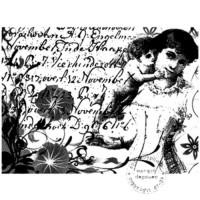TAMPON FOND VINTAGE FEMME ENFANT par Lily Fairy