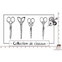 TAMPON COLLECTION DE CISEAUX (grand) par Ana Salgado Aguiar