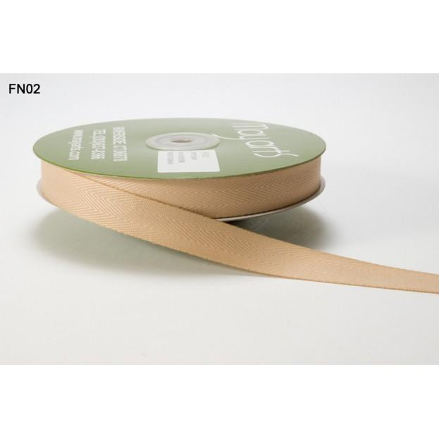 1 mètre de ruban en 1.5 cm - twill beige
