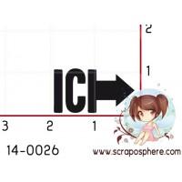 TAMPON FLECHE ICI par Soph10