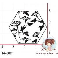 TAMPON HEXAGONE NATURE FLEUR par Lily Fairy