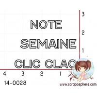 TAMPON CLIC CLAC SEMAINE NOTE par Soph10