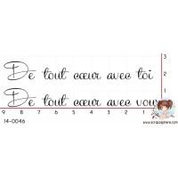 TAMPON DE TOUT COEUR AVEC TOI - VOUS par Lily Fairy