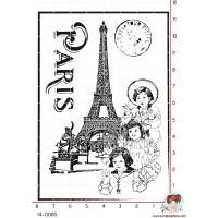 TAMPON FOND TOUR EIFFEL PARIS PETITES FILLES par Lily Fairy