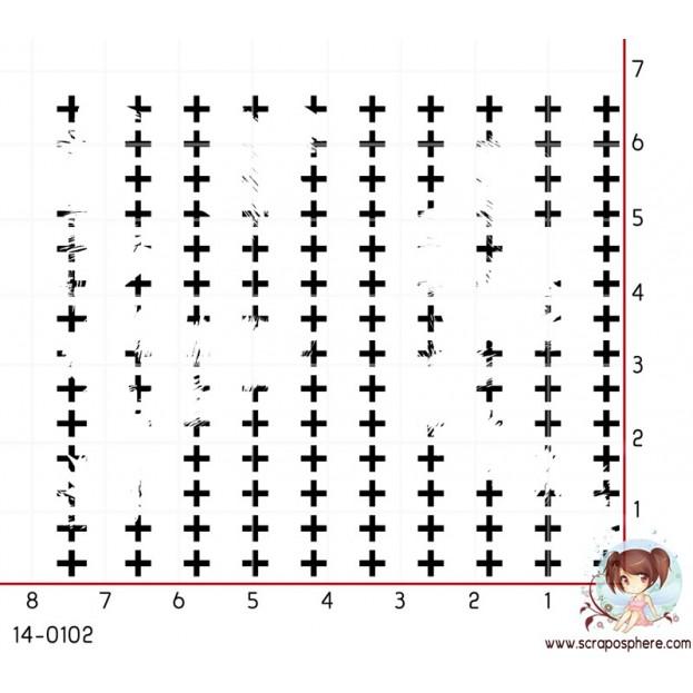 TAMPON FOND CROIX GRUNGE par Laetitia67