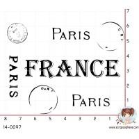 TAMPON CACHET PARIS France (grand) par Lily Fairy