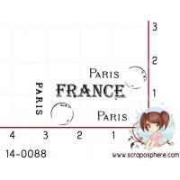 TAMPON CACHET PARIS France (petit) par Lily Fairy