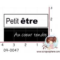 TAMPON PETIT ETRE AU COEUR TENDRE par Ingrid