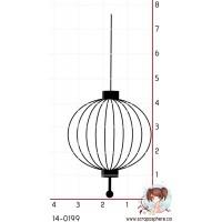 TAMPON LAMPION ASIATIQUE (grand)