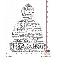 TAMPON NUAGE MOT BOUDDHA MEDITATION
