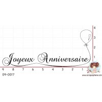 TAMPON JOYEUX ANNIVERSAIRE (ballon) par Lily Fairy