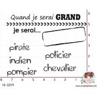 6 TAMPONS QUAND JE SERAI GRAND par Crearel