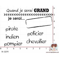 ENSEMBLE DE 6 TAMPONS QUAND JE SERAI GRAND par Crearel