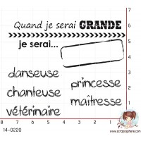 ENSEMBLE DE 6 TAMPONS QUAND JE SERAI GRANDE par Crearel