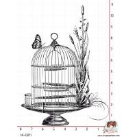 TAMPON CAGE ANTIQUE AU PAPILLON par Lily Fairy
