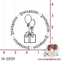 TAMPON INVITATION CADEAU AUX BALLONS par Lily Fairy