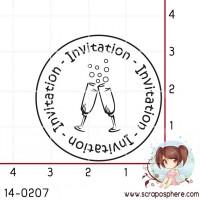 TAMPON INVITATION COUPES DE CHAMPAGNE par Lily Fairy