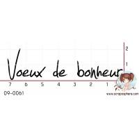 TAMPON VOEUX DE BONHEUR par Lily Fairy