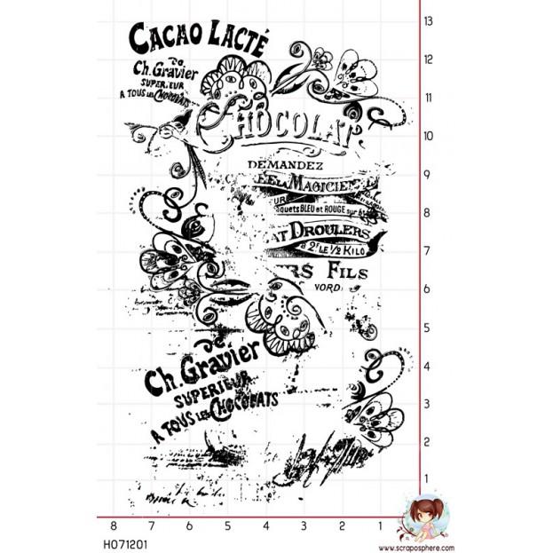 TAMPON FOND CHOCOLAT