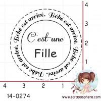 TAMPON CERCLE C EST UNE FILLE par Lily Fairy