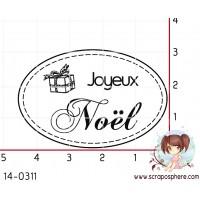 TAMPON OVALE JOYEUX NOEL par Lily Fairy