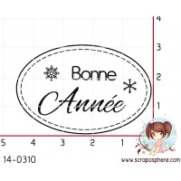 TAMPON OVALE BONNE ANNEE par Lily Fairy