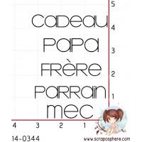 5 TAMPONS CADEAU PAPA FRERE PARRAIN MEC par Lily Fairy