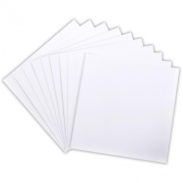 1 FEUILLE CARDSTOCK 30X30 WHITE CORE DINATIONS