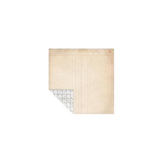 1 FEUILLE CARDSTOCK 30X30 LEDGER