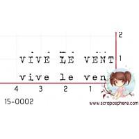 TAMPON VIVE LE VENT (double) par Laetitia67