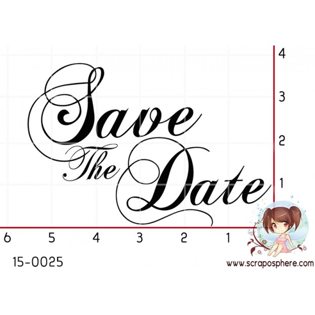TAMPON SAVE THE DATE par Lily Fairy