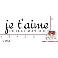 TAMPON JE T AIME DE TOUT MON COEUR par Mauxane