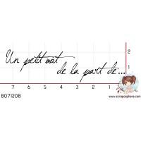 TAMPON PETIT MOT DE LA PART DE par F-rose