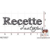 TAMPON RECETTE D AUTREFOIS par Choupyne