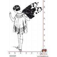 TAMPON JEUNE FILLE AUX AILES DE PAPILLON (ailes séparées) par Lily Fairy