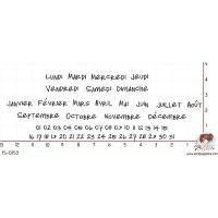 TAMPONS JOUR MOIS DATE par Lily Fairy