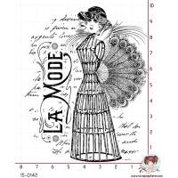 TAMPON FEMME MODE MANNEQUIN ANTIQUE par Lily Fairy