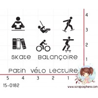 11 MINI TAMPONS PLANNING - SERIE SPORT SKATE par Lily Fairy
