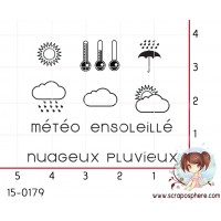 10 MINI TAMPONS PLANNING - SERIE METEO par Lily Fairy