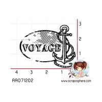 TAMPON CACHET ANCRE VOYAGE
