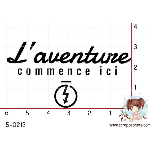 TAMPON L AVENTURE COMMENCE ICI par Binka