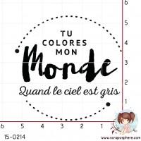 TAMPON TU COLORES MON MONDE par Binka
