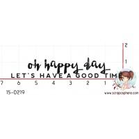 TAMPON OH HAPPY DAY par Binka